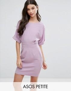 Тканое платье мини с V-образным вырезом сзади ASOS PETITE - Фиолетовый