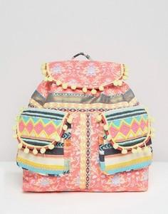 Рюкзак с помпонами ASOS BEACH - Мульти