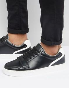 Черные кроссовки с ремешком Versace Jeans - Черный