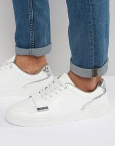 Белые кроссовки с ремешком Versace Jeans - Белый