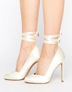Свадебные туфли на высоком каблуке ASOS PRONTO - Кремовый