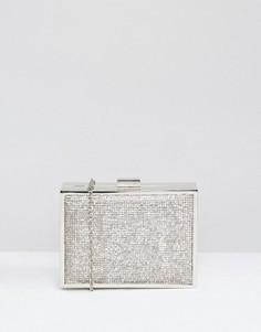 Клатч с отделкой Carvela - Серебряный
