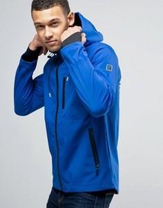 Спортивная куртка с капюшоном Blend Active - Синий