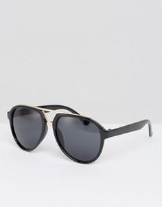 Черные солнцезащитные очки‑авиаторы 7X - Черный