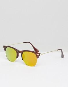 Коричневые солнцезащитные очки в стиле ретро 7X - Коричневый