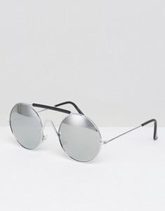 Черные солнцезащитные очки в стиле ретро 7X - Серебряный