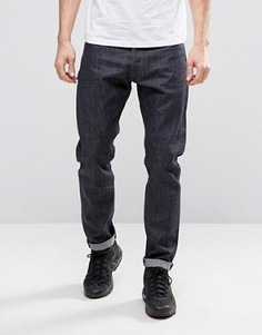 Узкие джинсы из необработанного денима G-Star 3301 - Темно-синий