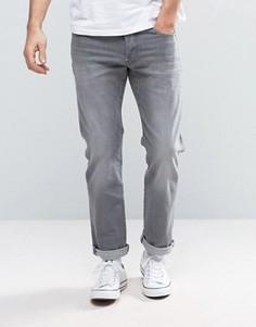 Синие прямые джинсы с состаренным эффектом G-Star Revend - Синий