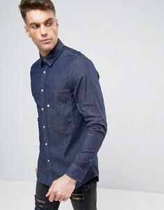 Узкая джинсовая рубашка с длинными рукавами G-Star Stalt - Темно-синий