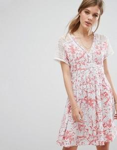 Платье мини с принтом Suncoo - Розовый