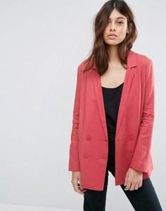 Льняной блейзер ASOS Tailored - Розовый