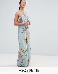Комбинезон с широкими штанинами и цветочным принтом ASOS PETITE - Мульти