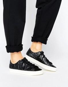 Кожаные кроссовки adidas Court Vantage Polygone - Черный