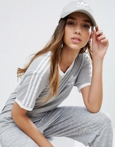 Серая кепка с логотипом adidas Originals - Серый
