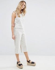 Юбка-брюки в полоску Vila - Белый