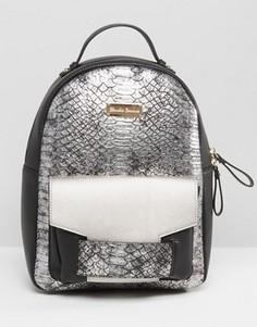 Рюкзак цвета металлик Claudia Canova - Серебряный