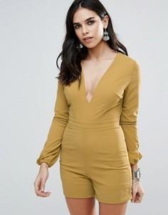 Комбинезон с открытой спиной Glamorous - Желтый