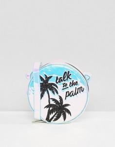 Блестящая сумка через плечо с принтом Talk To the Palm Skinnydip - Мульти