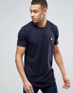 Длинная футболка с необработанным краем Le Breve - Темно-синий