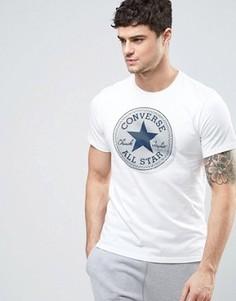 Белая футболка с большим логотипом Converse 10003386-A02 - Белый