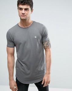 Длинная футболка с необработанным краем Le Breve - Серый