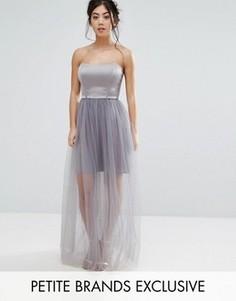 Платье на тонких бретельках True Decadence Petite - Серый