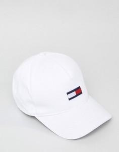Белая бейсболка с логотипом Tommy Hilfiger Denim - Белый