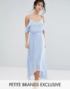 Платье макси с оборками True Decadence Petite - Синий