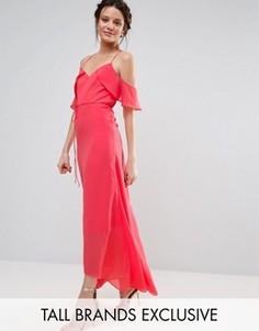 Платье макси с рукавами клеш True Decadence Tall - Розовый
