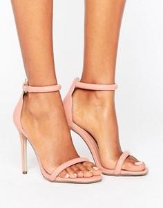 Сандалии на каблуке Missguided - Розовый