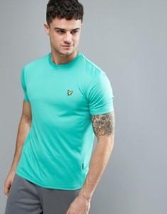 Зеленая футболка с сетчатой вставкой Lyle & Scott Fitness Peters - Зеленый