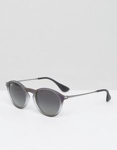 Серые круглые солнцезащитные очки Ray-Ban - Серый