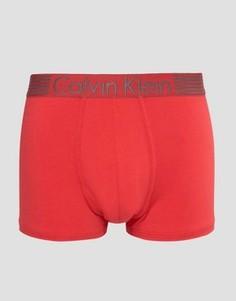 Хлопковые боксеры-брифы Calvin Klein Iron Strength - Красный