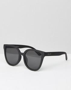 Черные солнцезащитные очки кошачий глаз с плоскими стеклами Quay Australia Paradiso - Черный