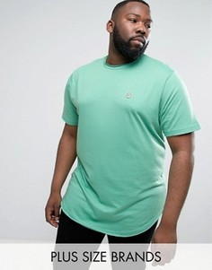 Длинная футболка с необработанным краем Le Breve PLUS - Зеленый