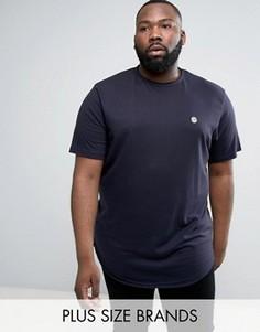 Длинная футболка с необработанным краем Le Breve PLUS - Темно-синий