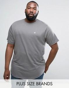 Длинная футболка с необработанным краем Le Breve PLUS - Серый
