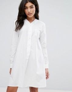 Бейсбольное платье-рубашка YMC - Белый