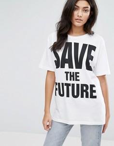 Футболка с логотипом Save The Future YMC - Белый