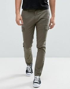 Зеленые узкие брюки карго Minimum Amaro - Зеленый