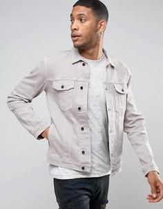 Выбеленная серая джинсовая куртка Religion - Серый