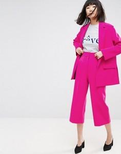 Юбка-брюки с эластичной вставкой ASOS PETITE - Розовый