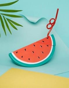 Кружка с соломинкой в виде арбуза Sunnylife - Мульти