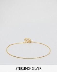 Браслет-цепочка из позолоченного серебра ASOS - Серебряный