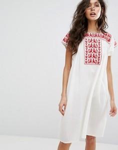Платье-туника с вышивкой Star Mela Lori - Мульти