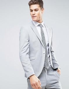 Пиджак узкого кроя с острыми лацканами Selected Homme - Серый