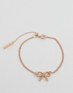 Браслет-цепочка с бантиком в винтажном стиле Olivia Burton - Золотой