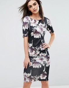 Платье миди с цветочным принтом AX Paris - Мульти