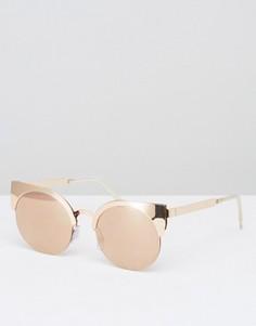 Солнцезащитные очки кошачий глаз Monki - Медный
