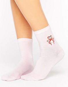 Носки с фламинго ASOS - Розовый